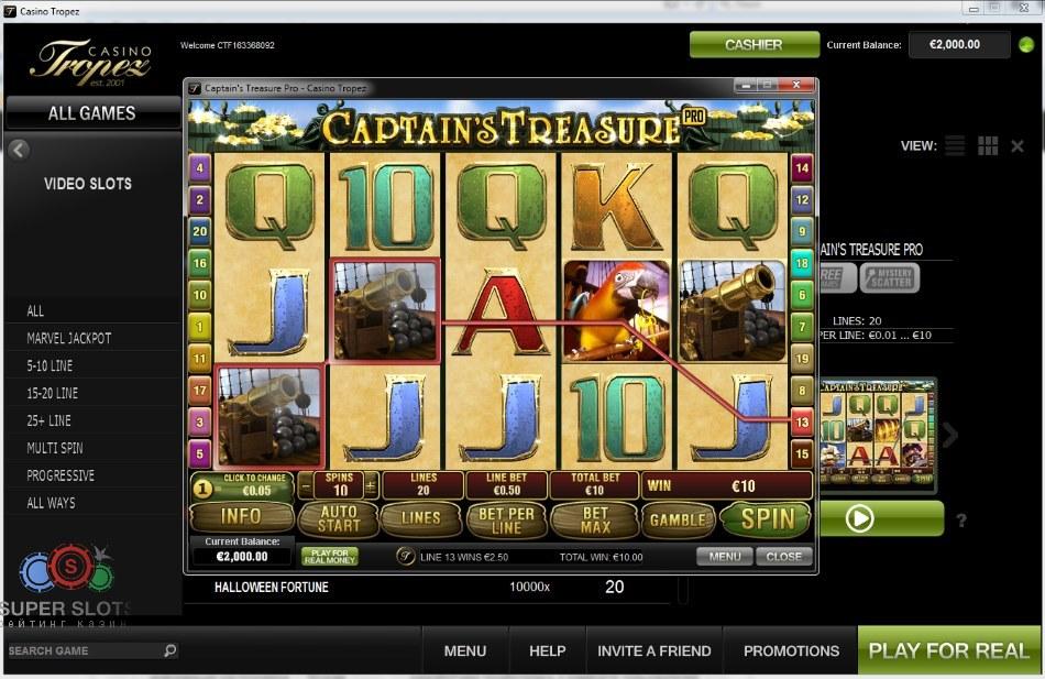 Играть в онлайн Казино Тропез